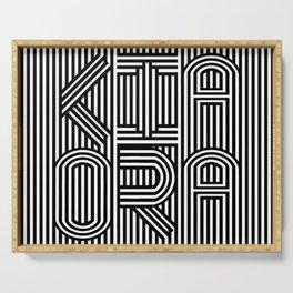 KiaOra New Zealand Greeting (Square) Serving Tray