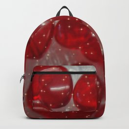 glittering glass hearts red Backpack