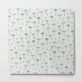 Mushroom Pattern I Metal Print