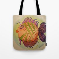 potter Tote Bags featuring MRS. POTTER by Caribbean Critters Co.