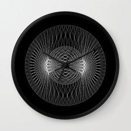 Mars : Venus - Black Wall Clock