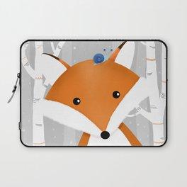 Fox and snail Laptop Sleeve