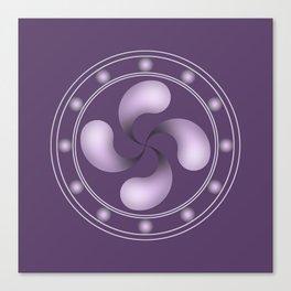 LAUBURU IN PURPLE (abstract geometric symbol) Canvas Print