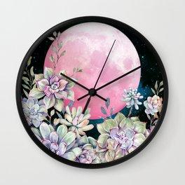 succulent full moon 3 Wall Clock