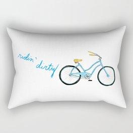 Ridin Dirty Bicycle Rectangular Pillow