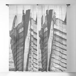 An old wreck Sheer Curtain