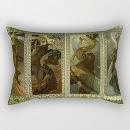 "Alphonse Mucha ""The Moon and the Stars Series"" Rectangular Pillow"