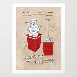 patent art Rubens Disappearing Santa in Chimney 1960 Art Print