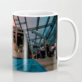 On Time Red Line El Train Chicago Train L Train Subway Platform Wilson Coffee Mug