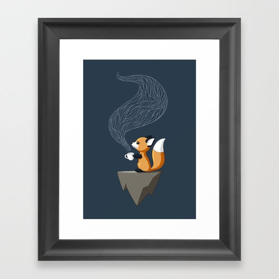 Fox Tea Framed Art Print
