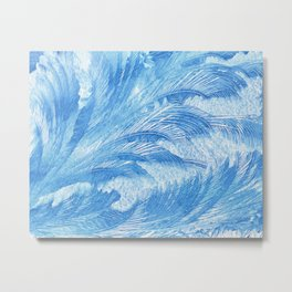 Blue frost abstract Metal Print