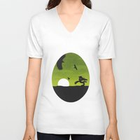 egg V-neck T-shirts featuring Egg by Broenner