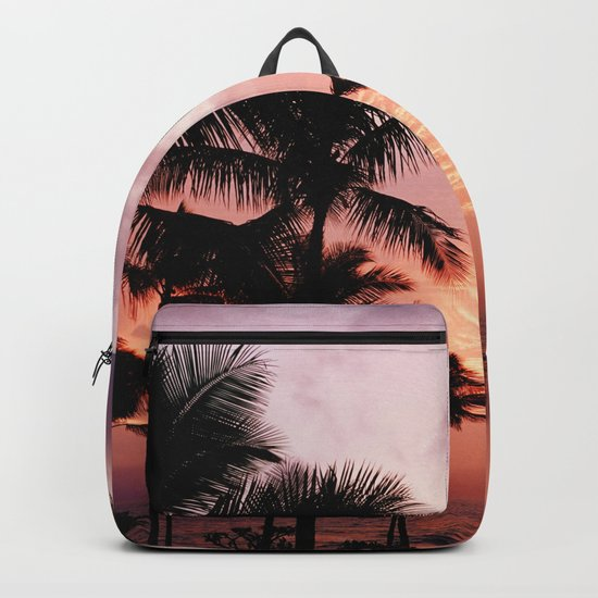 Palm Tree Sunset Backpack