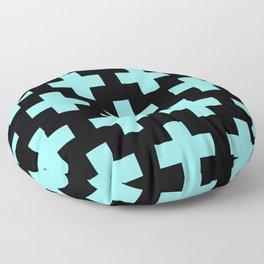blue cross Floor Pillow