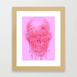 Skinless Red Horror Zombie Art Framed Art Print
