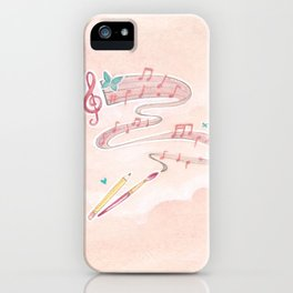 Artistic Melodies iPhone Case