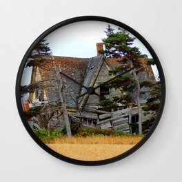 Abandoned Collapsing Homestead Wall Clock