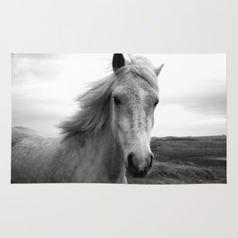 white horse Rug