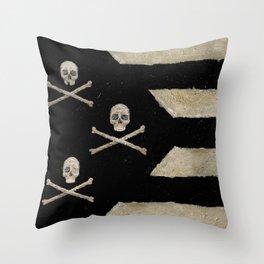 Cut Skull Flag Throw Pillow