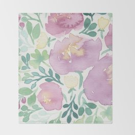 Pink and Green Throw Blanket