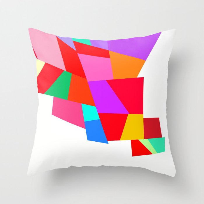Hy Colourful Geometric Pattern Throw Pillow By Dominiquevari