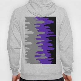 Splash of colour (purple & gray) Hoody