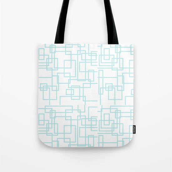 Geometric abstract pattern - light aqua Tote Bag