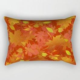 Autumn Leaves Carpet Rectangular Pillow