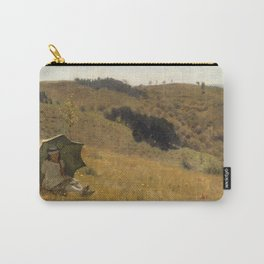 Lawrence Alma Tadema - Sunny Days - Victorian Belle Époque Vintage Retro Oil Painting Carry-All Pouch