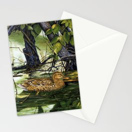 Mallards on the St. Joseph River Stationery Cards