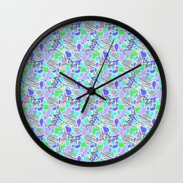 Electric Party Blues Wall Clock