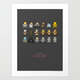 Mega Star Wars: Episode IV - A New Hope Art Print