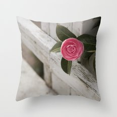 Pink Porch Flower Throw Pillow