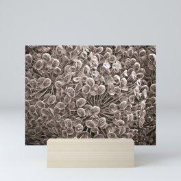 Sepia Nature Pattern Mini Art Print