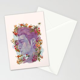STURDMAN WITH FLOWER DECORATION Stationery Cards