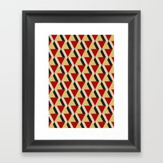 Retrospect, Triangle Duo, No. 06 Framed Art Print