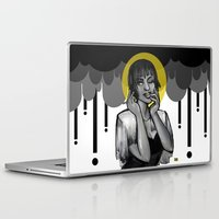 cigarettes Laptop & iPad Skins featuring Saint of Soggy Cigarettes  by mazzaroo