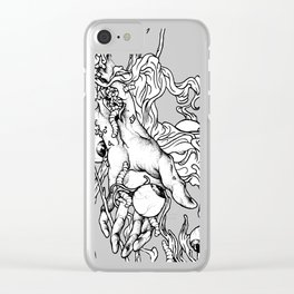 Hand Of Doom Clear iPhone Case