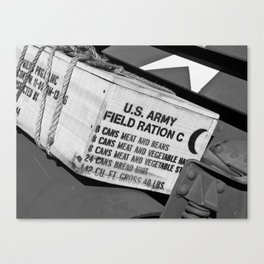 US Army Field Rations Canvas Print