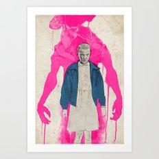 Stranger Things - Eleven & The Monster Art Print