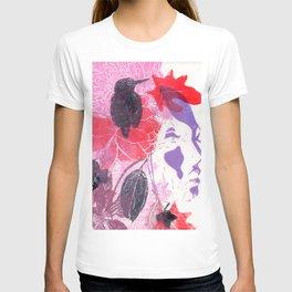 girl with bird T-shirt