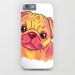 Pug watercolors sweet iPhone Case