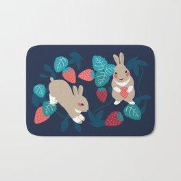 Strawberry Bunny Bath Mat