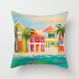 Beach houses Throw Pillow