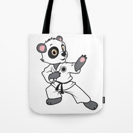 MMA panda bear karate competition kung fu gift Tote Bag