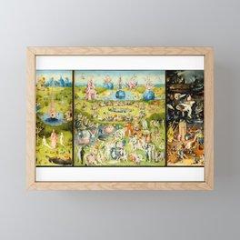 The Garden of Earthly Delights by Bosch Framed Mini Art Print