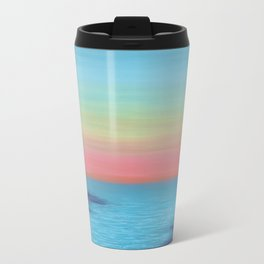 Coral Sunset Travel Mug
