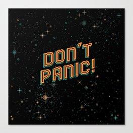 Don't Panic! Pixel Art Canvas Print