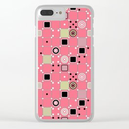 Geometrical abstract pattern Clear iPhone Case