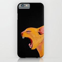 Yawning Cat iPhone Case